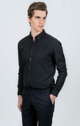 Svart skjorta | Oxford | Slim Fit