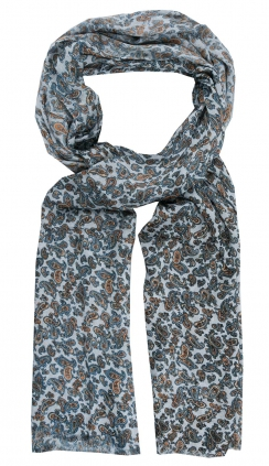 Scarf | Classic Paisley | Grey