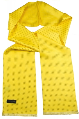 Sidenscarf Yellow Dots