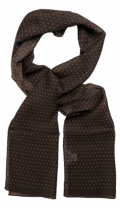 Ullscarf Light Brown Dots