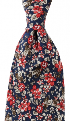 Slips Floral 8 cm | Navy Red