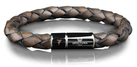Design Lino Leluzzi - Leather Bracelet Grey