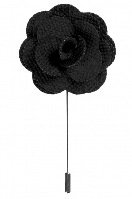 Svart lapel flower pin, Neckwear